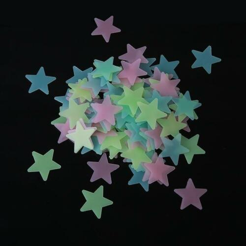 100Pc Wall Stickers Home Decor Glow In The Dark Star Baby Kids Room Decals S