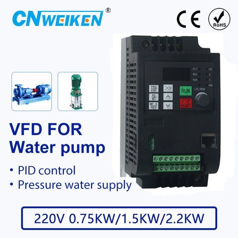 220V 0.75-2.2kw 1 phase input and  3 phase output ac motor drive