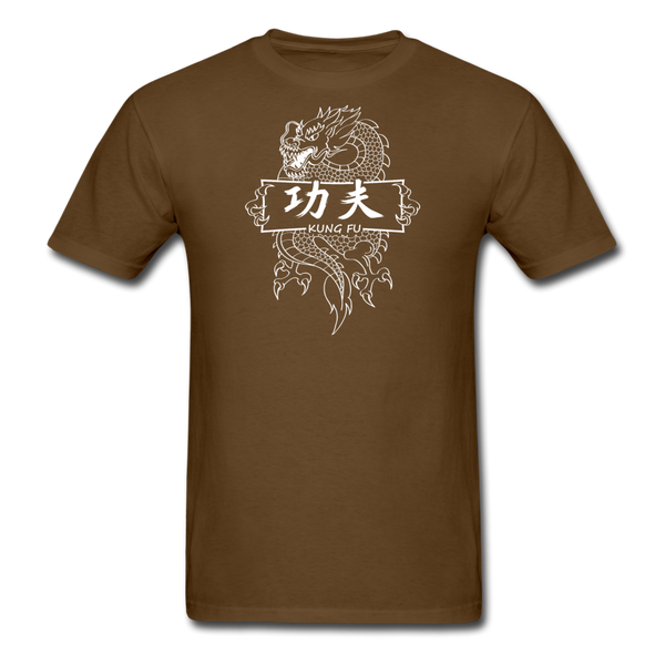 Dragon Kung Fu T-Shirt - brown
