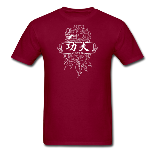 Dragon Kung Fu T-Shirt - burgundy