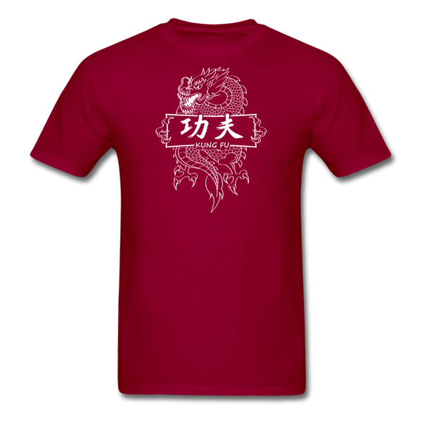Dragon Kung Fu T-Shirt - dark red