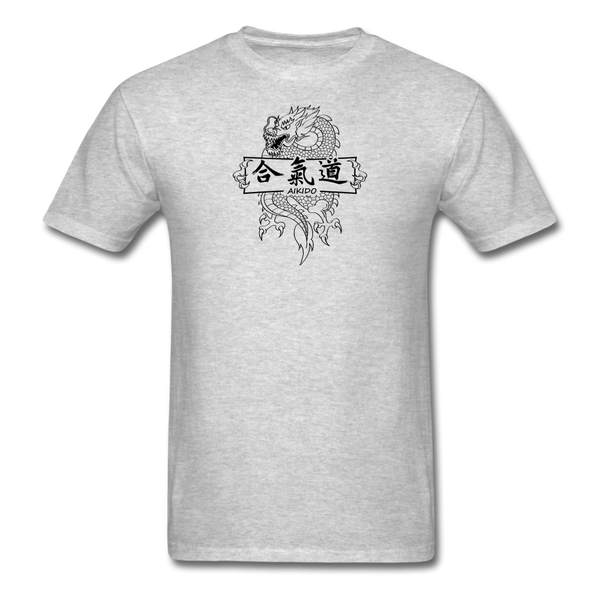 Dragon Aikido T-Shirt - heather gray