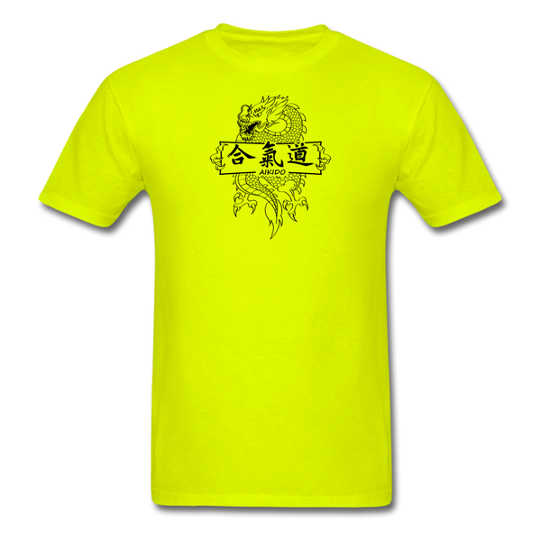 Dragon Aikido T-Shirt - safety green