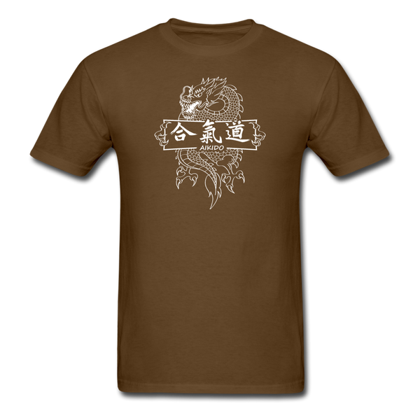 Dragon Aikido T-Shirt - brown