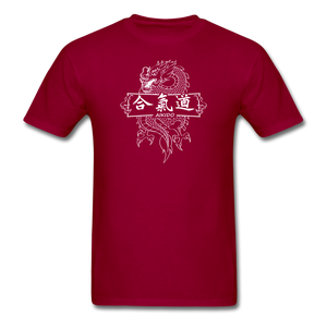 Dragon Aikido T-Shirt - dark red