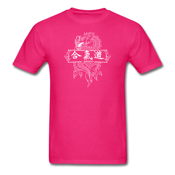 Dragon Aikido T-Shirt - fuchsia