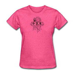 Dragon Aikido T Shirt - heather pink
