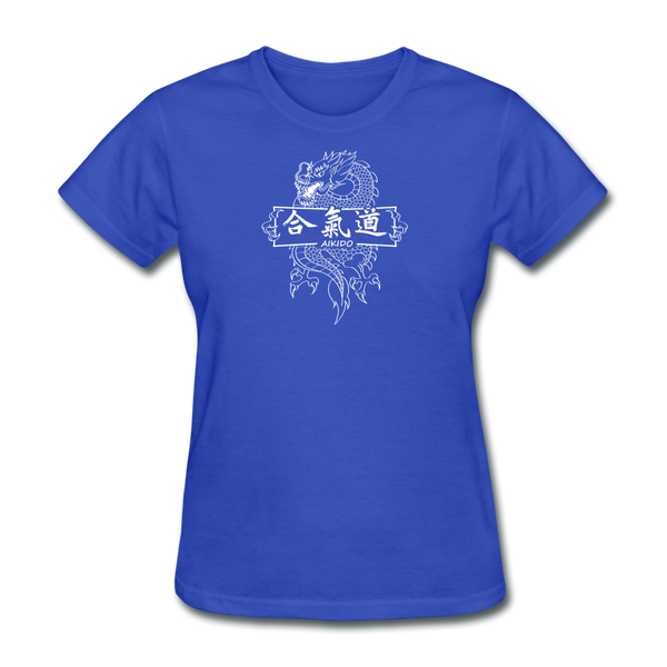 Dragon Aikido T-Shirt - royal blue