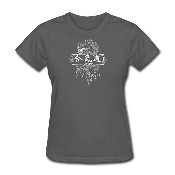 Dragon Aikido T-Shirt - charcoal