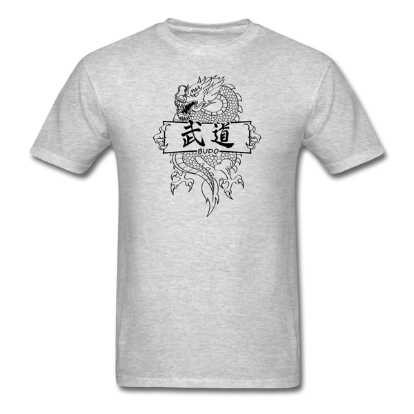 Dragon Budo T-Shirt - heather gray