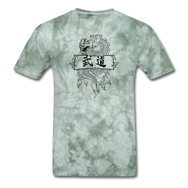 Dragon Budo T-Shirt - military green tie dye