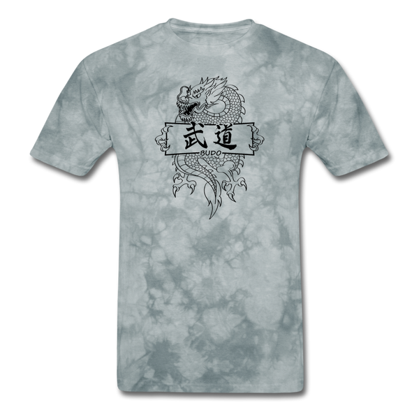 Dragon Budo T-Shirt - grey tie dye