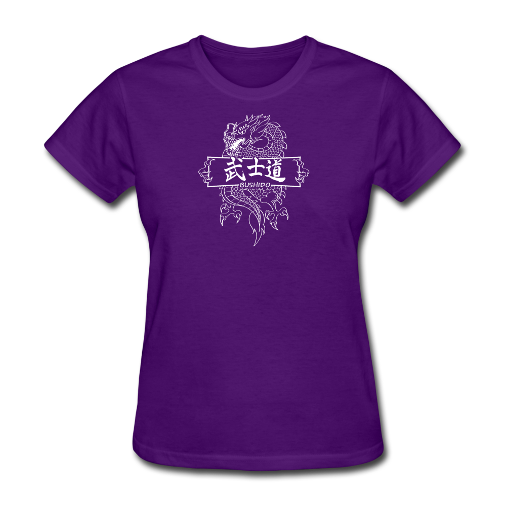 Dragon Bushido T-Shirt - purple