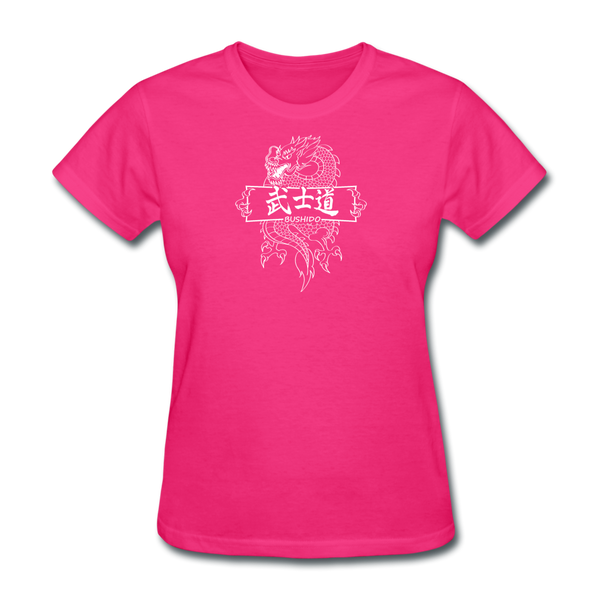 Dragon Bushido T-Shirt - fuchsia