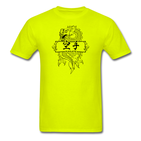 Dragon Karate T-Shirt - safety green