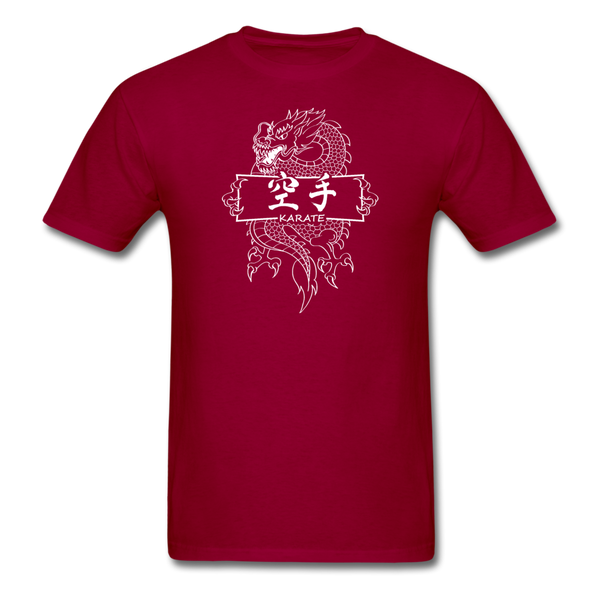Dragon Karate T-Shirt - dark red