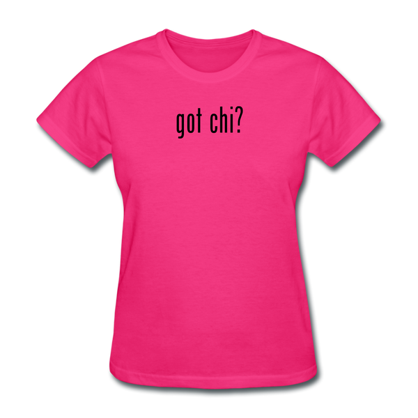Got Chi? T-Shirt - fuchsia