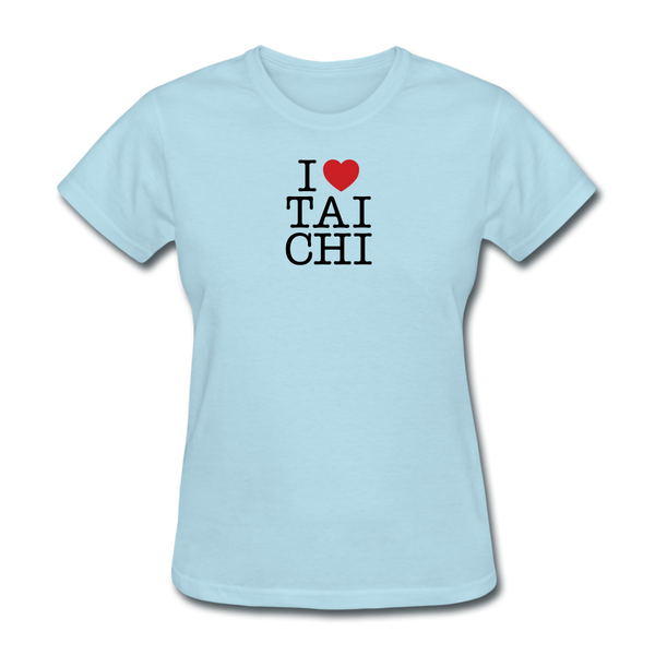 I Love Tai Chi T-Shirt - powder blue