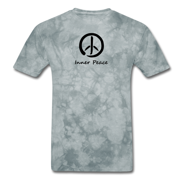 Inner Peace T-Shirt - grey tie dye