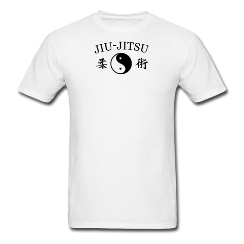 Jiu-Jitsu Yin and Yang Kanji T-Shirt - white