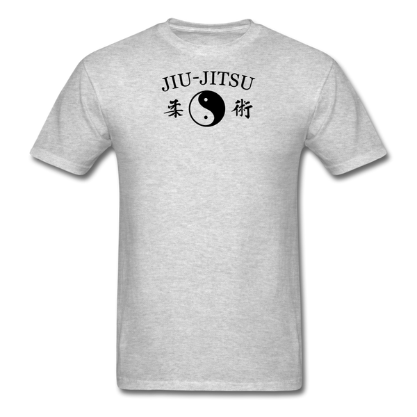 Jiu-Jitsu Yin and Yang Kanji T-Shirt - heather gray