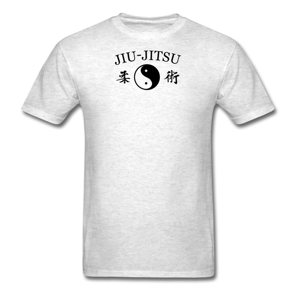 Jiu-Jitsu Yin and Yang Kanji T-Shirt - light heather gray