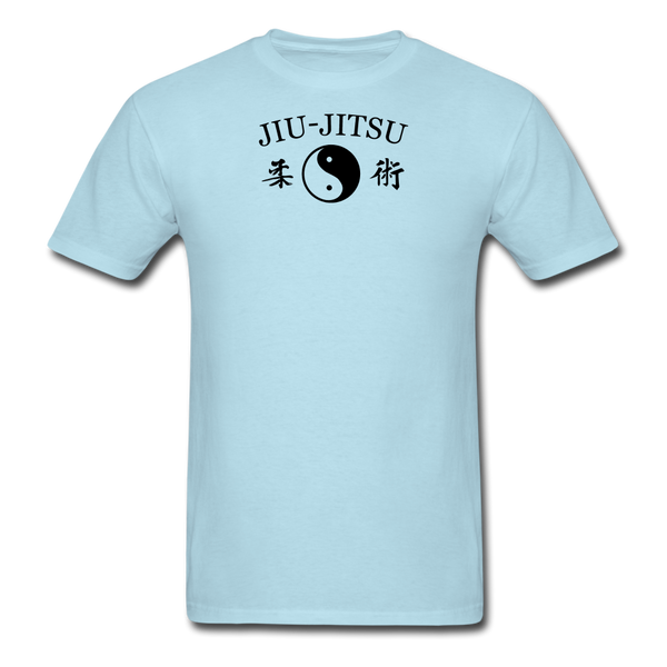 Jiu-Jitsu Yin and Yang Kanji T-Shirt - powder blue