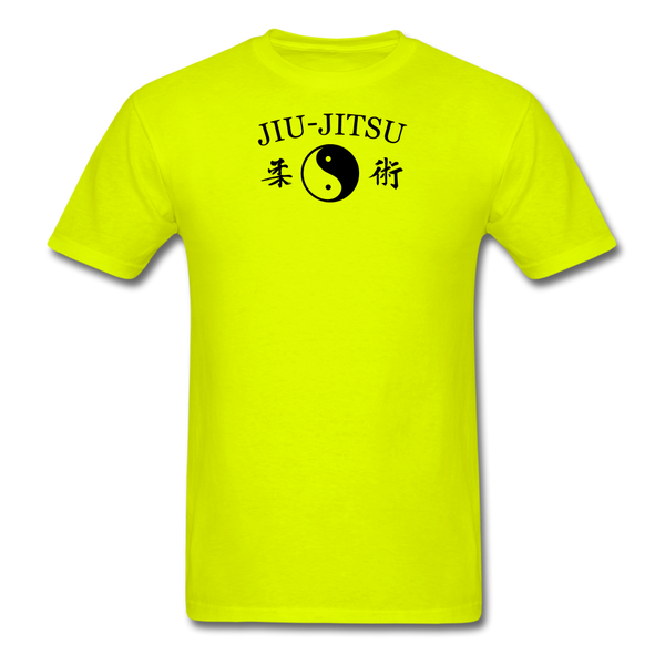 Jiu-Jitsu Yin and Yang Kanji T-Shirt - safety green