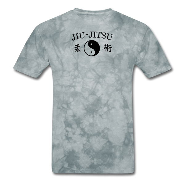 Jiu-Jitsu Yin and Yang Kanji T-Shirt - grey tie dye