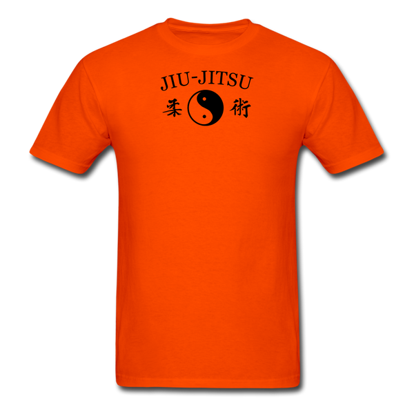 Jiu-Jitsu Yin and Yang Kanji T-Shirt - orange