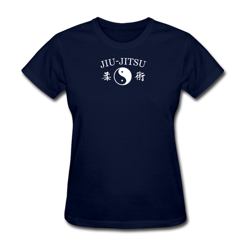 Jiu-Jitsu Yin and Yang Kanji T-Shirt - navy