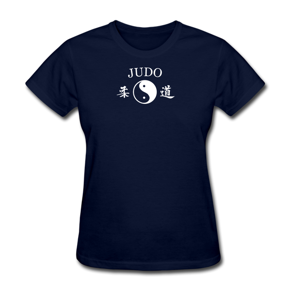 Judo Yin and Yang Kanji T-Shirt - navy