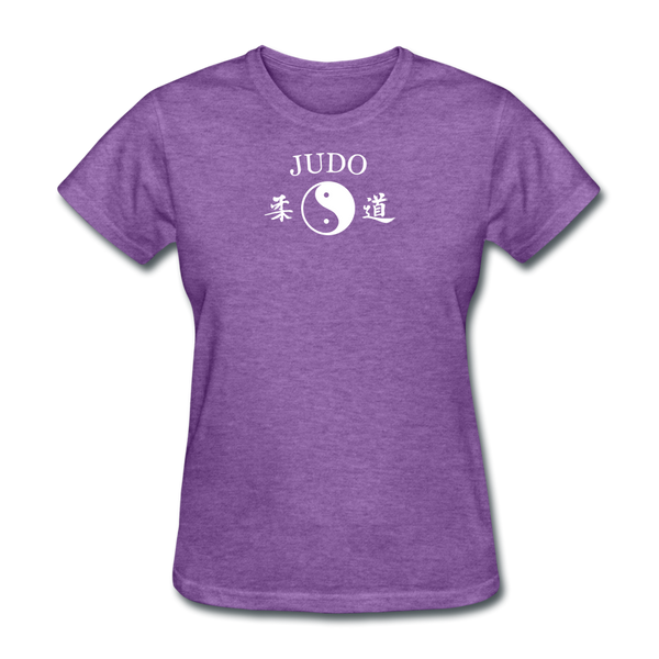 Judo Yin and Yang Kanji T-Shirt - purple heather