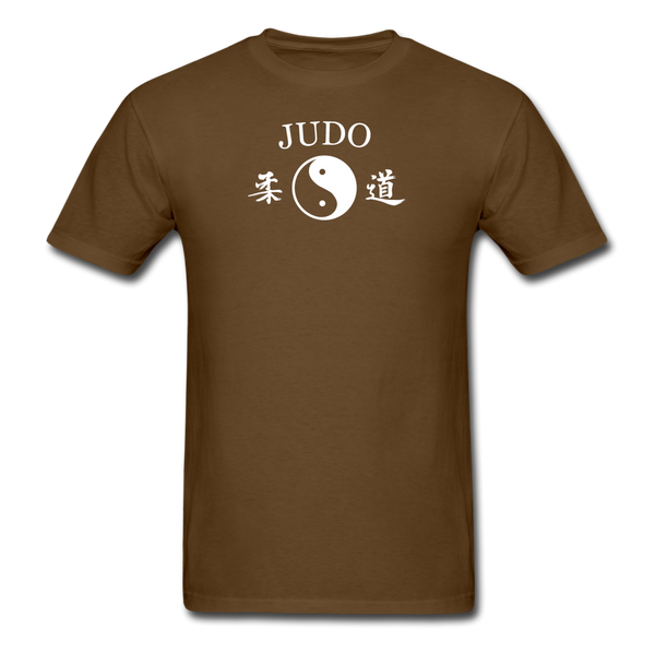 Judo Yin and Yang Kanji T-Shirt - brown
