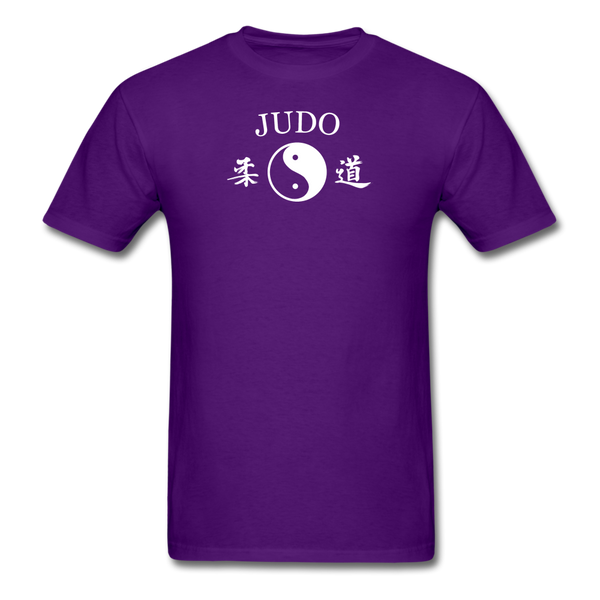 Judo Yin and Yang Kanji T-Shirt - purple