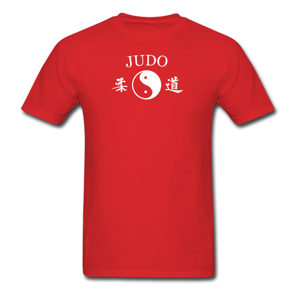 Judo Yin and Yang Kanji T-Shirt - red