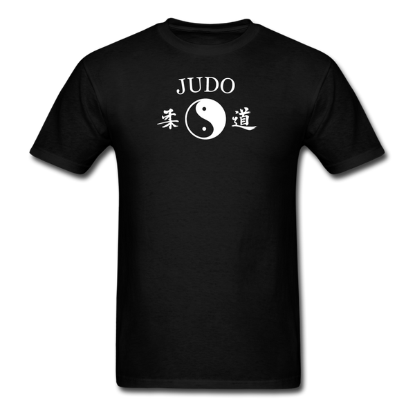 Judo Yin and Yang Kanji T-Shirt - black