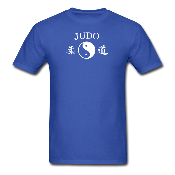 Judo Yin and Yang Kanji T-Shirt - royal blue