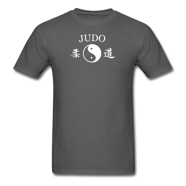 Judo Yin and Yang Kanji T-Shirt - charcoal