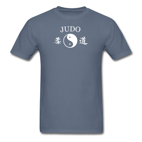Judo Yin and Yang Kanji T-Shirt - denim