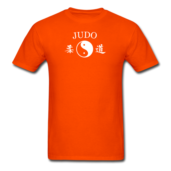 Judo Yin and Yang Kanji T-Shirt - orange
