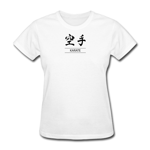 Karate Kanji T-Shirt - white
