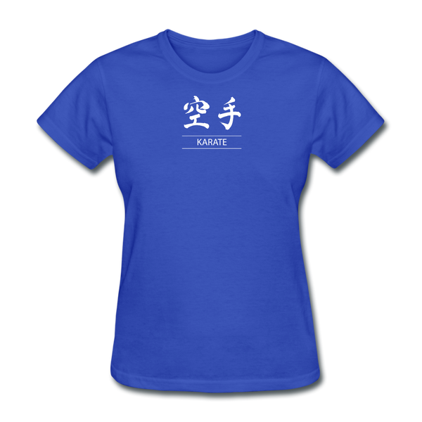 Karate Kanji T-Shirt - royal blue