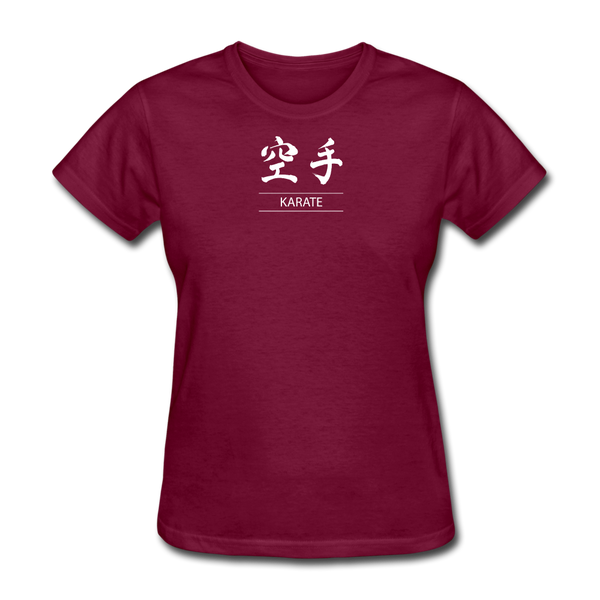 Karate Kanji T-Shirt - burgundy