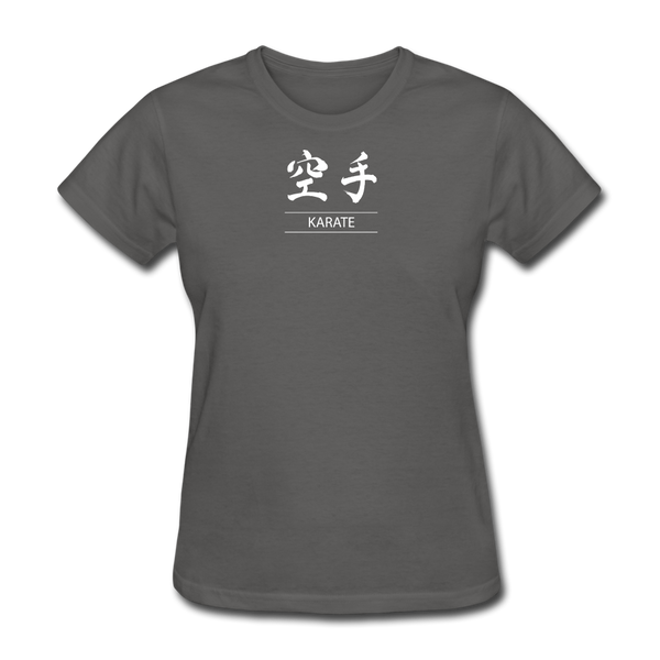 Karate Kanji T-Shirt - charcoal