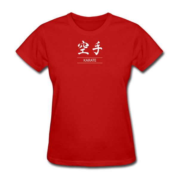 Karate Kanji T-Shirt - red
