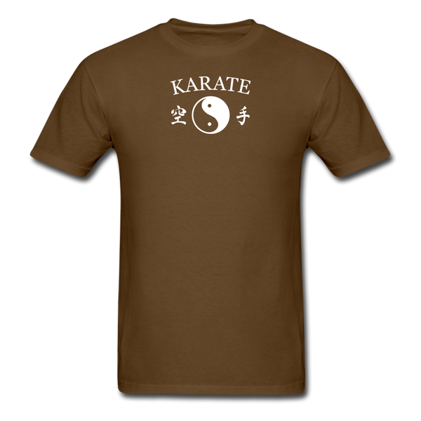 Karate Yin and Yang Kanji-Shirt - brown