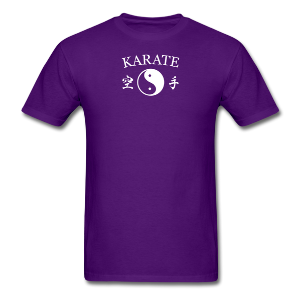 Karate Yin and Yang Kanji-Shirt - purple