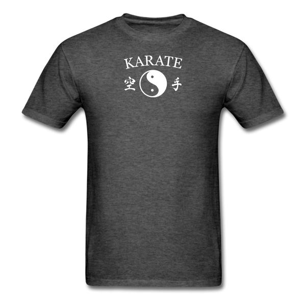 Karate Yin and Yang Kanji-Shirt - heather black