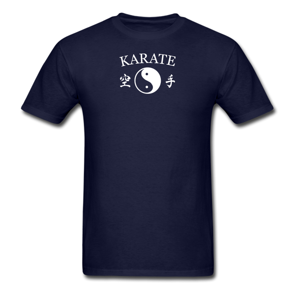 Karate Yin and Yang Kanji-Shirt - navy